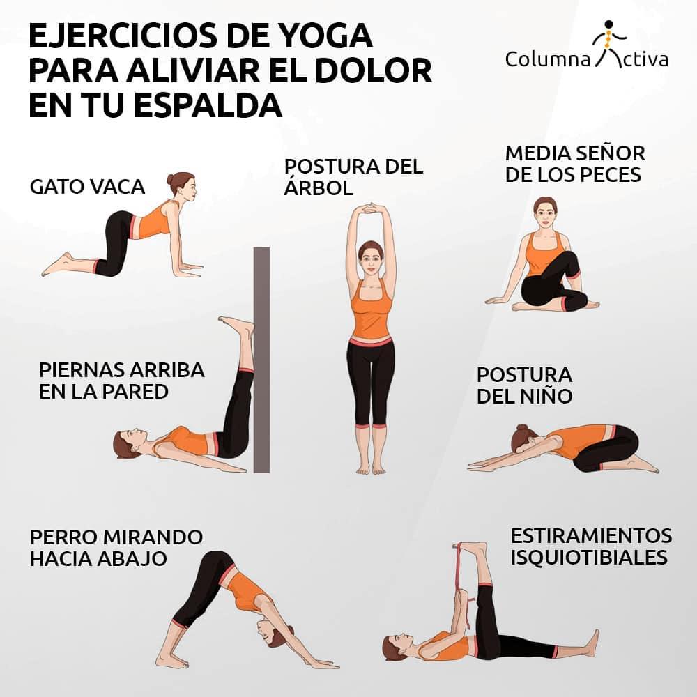 Ejercicios inspirados en las posturas de yoga
