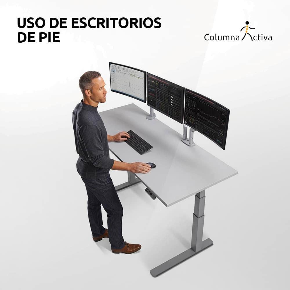 Uso de escritorios de pie
