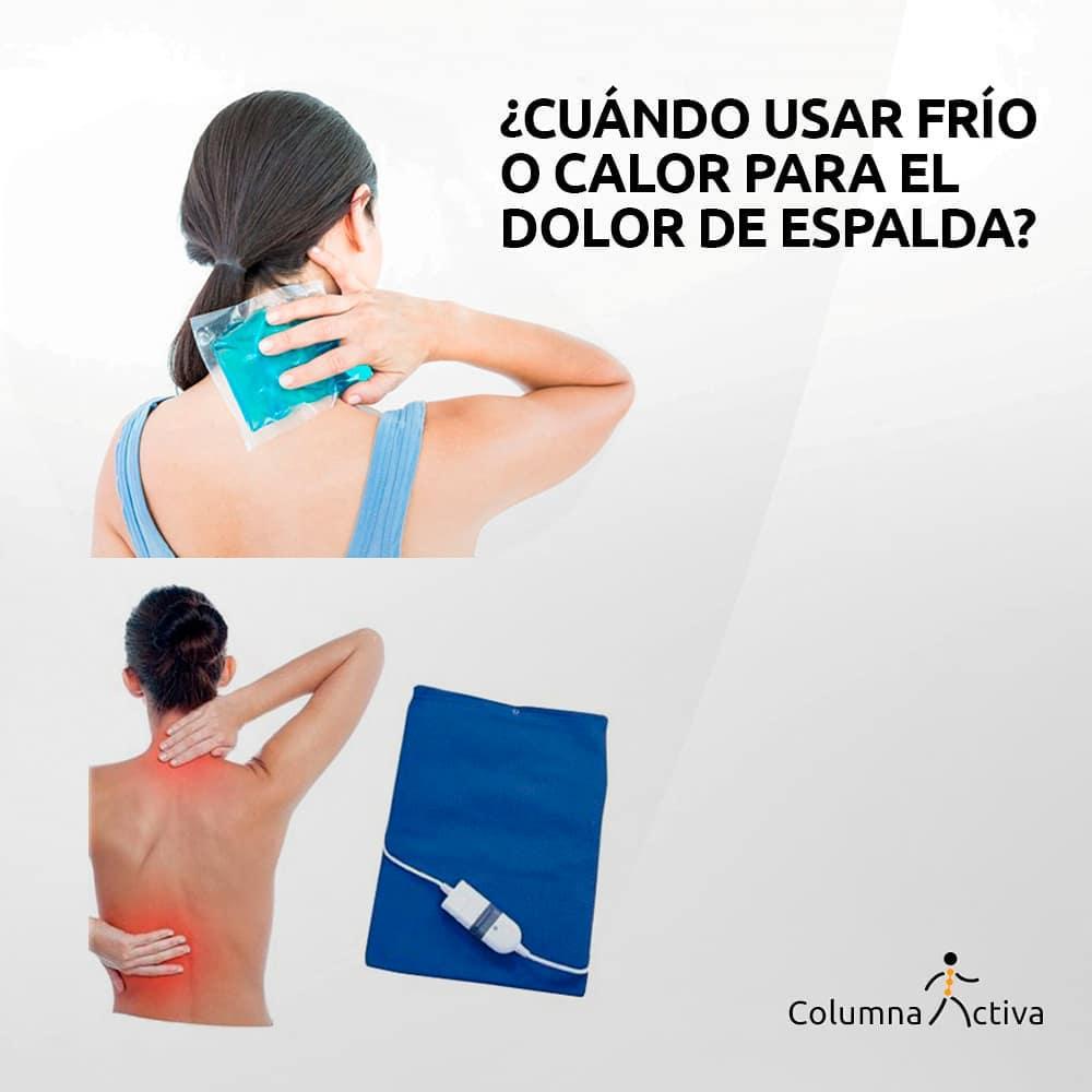 ¿Cuándo usar frío o calor para el dolor de espalda?
