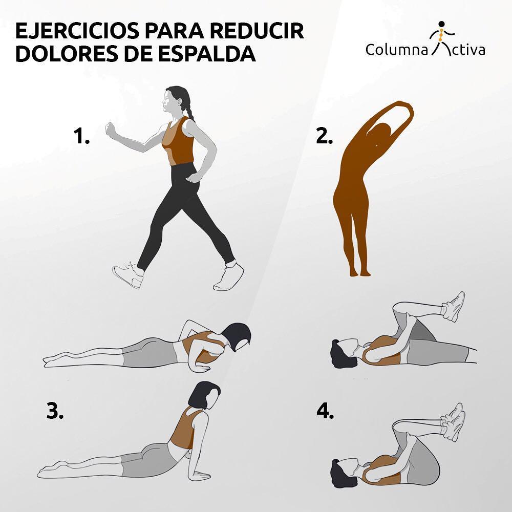 Ejercicios para reducir dolores de espalda