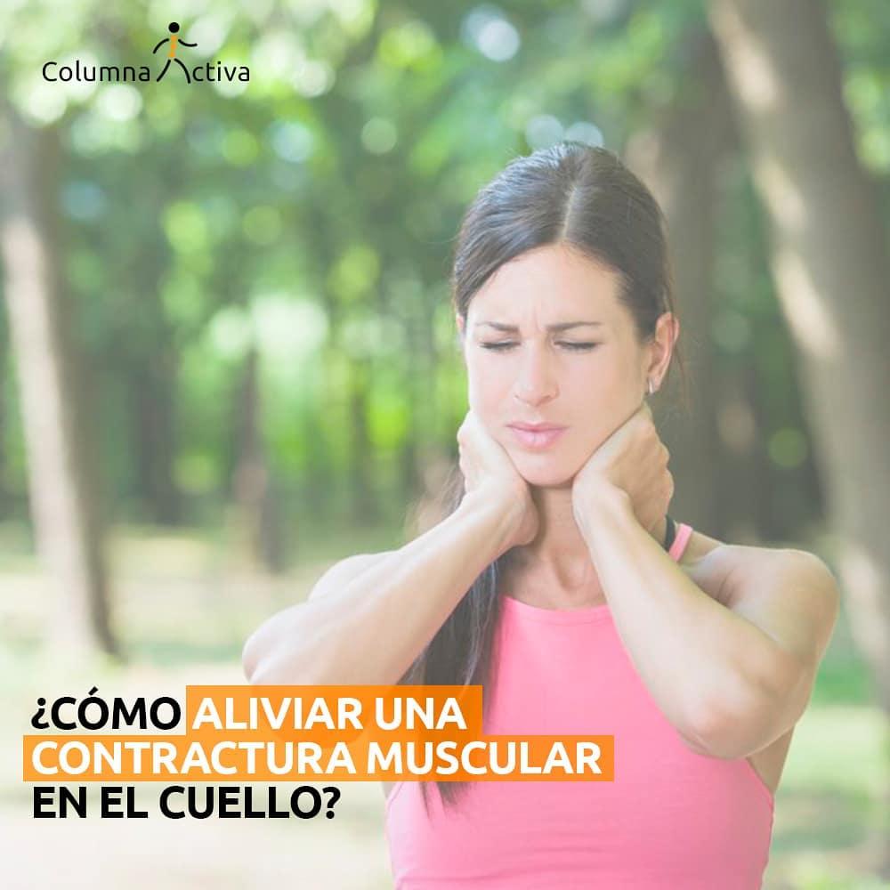 ¿Cómo aliviar una contractura muscular?