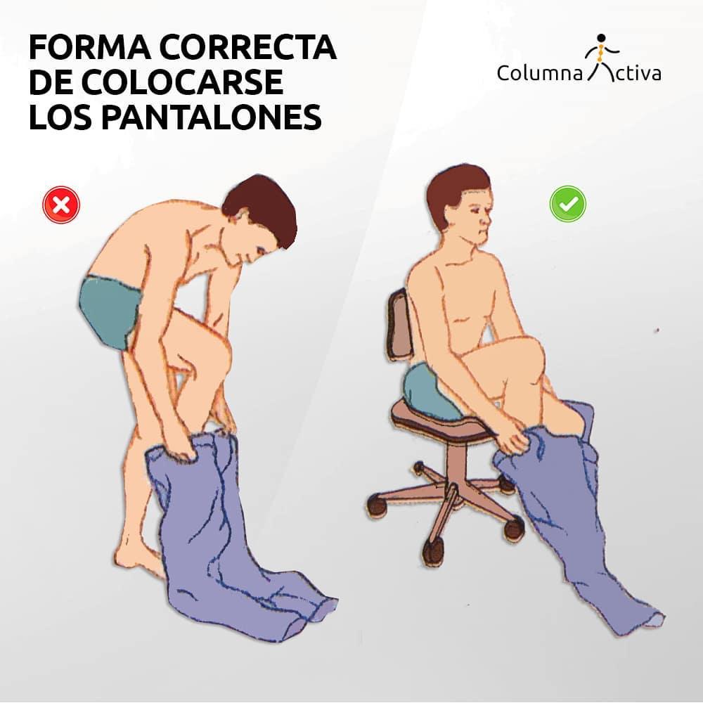 Forma correcta de colocarse los pantalones