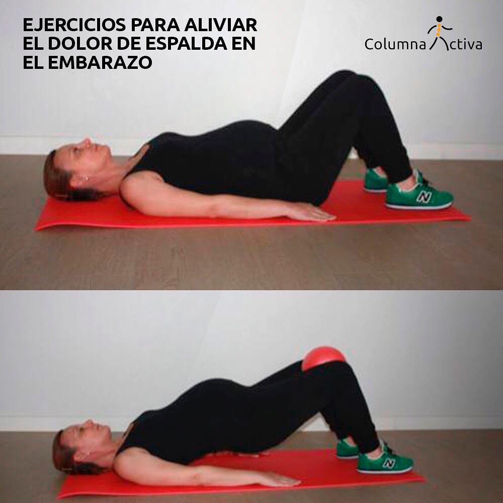 Ejercicios para aliviar el dolor de espalda en el embarazo