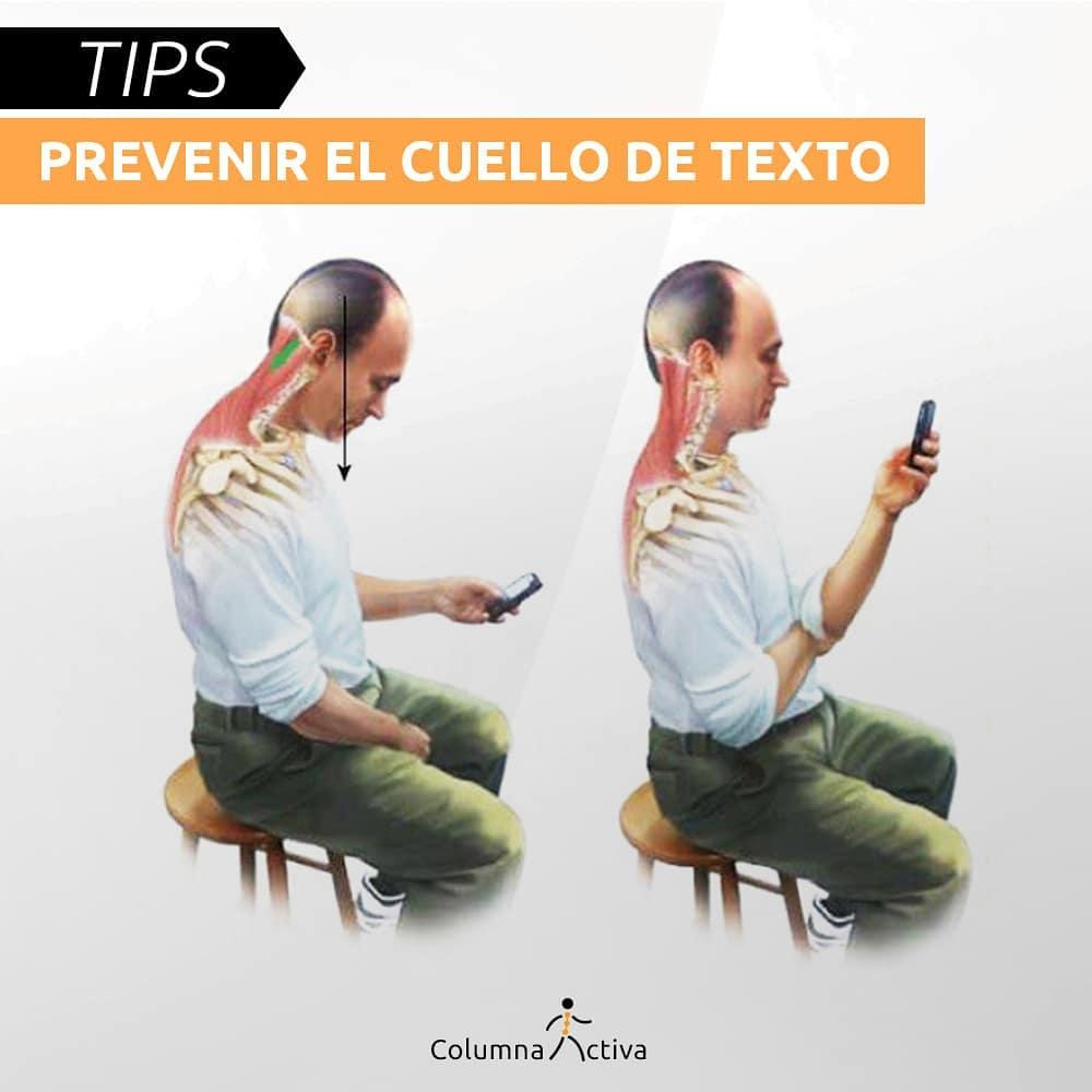 Tips para prevenir el cuello de texto