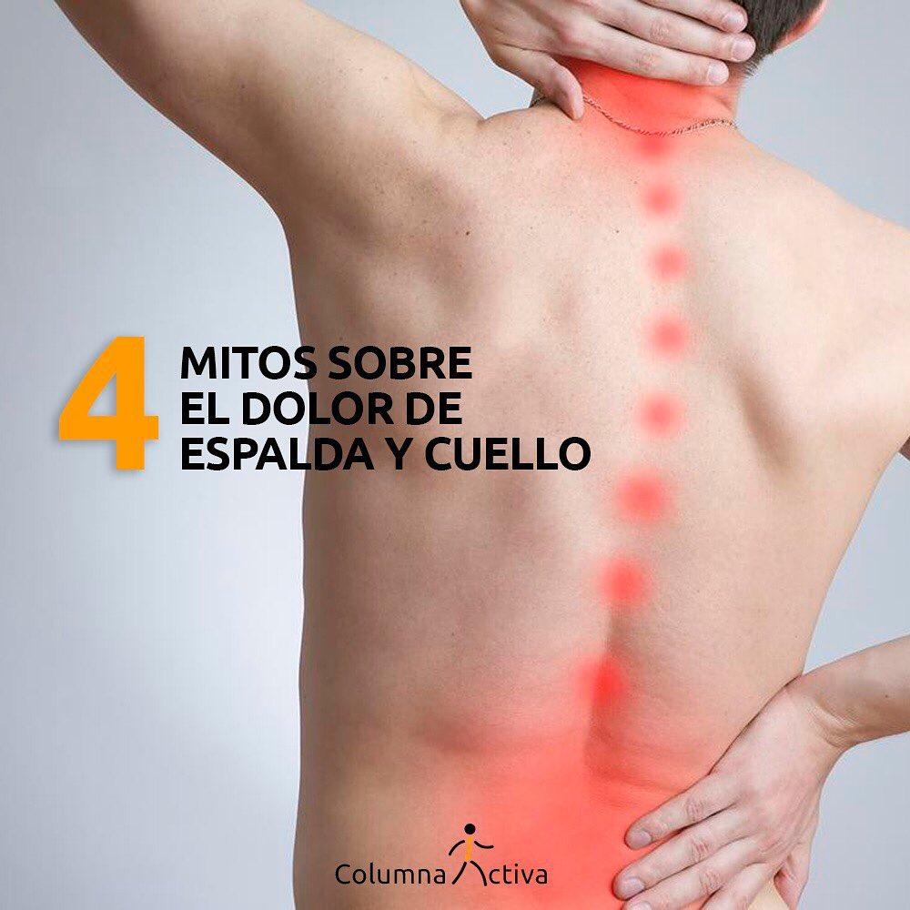 Mitos sobre el dolor de espalda y cuello