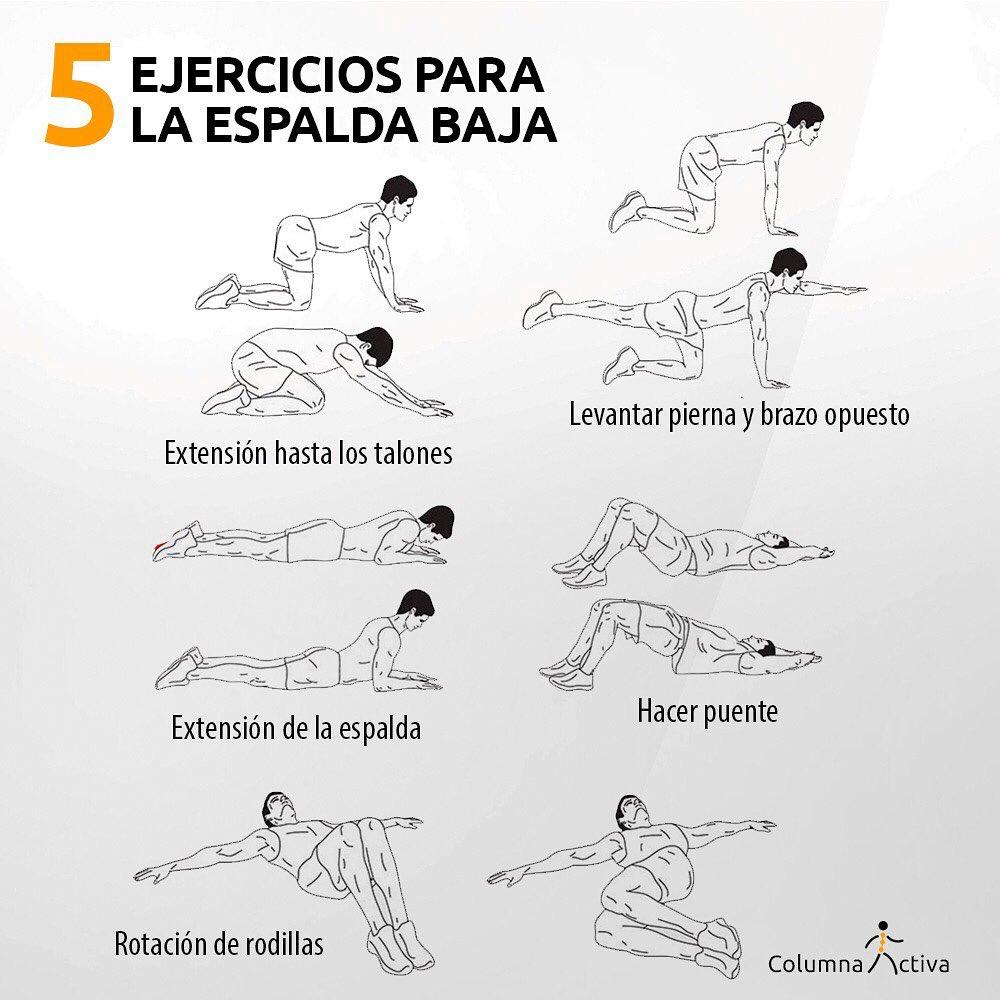 5 ejercicios para la espalda baja