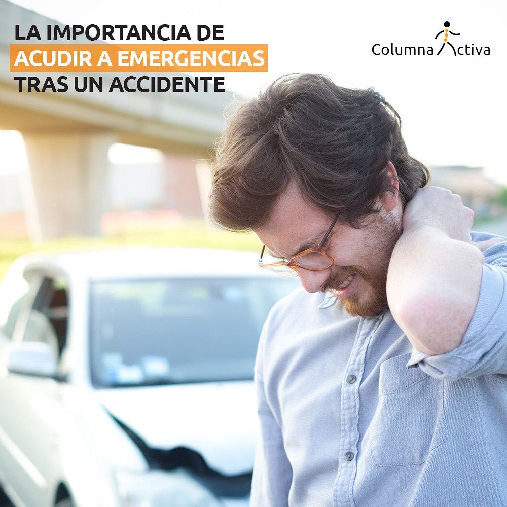 la importancia de acudir a emergencias tras un accidente
