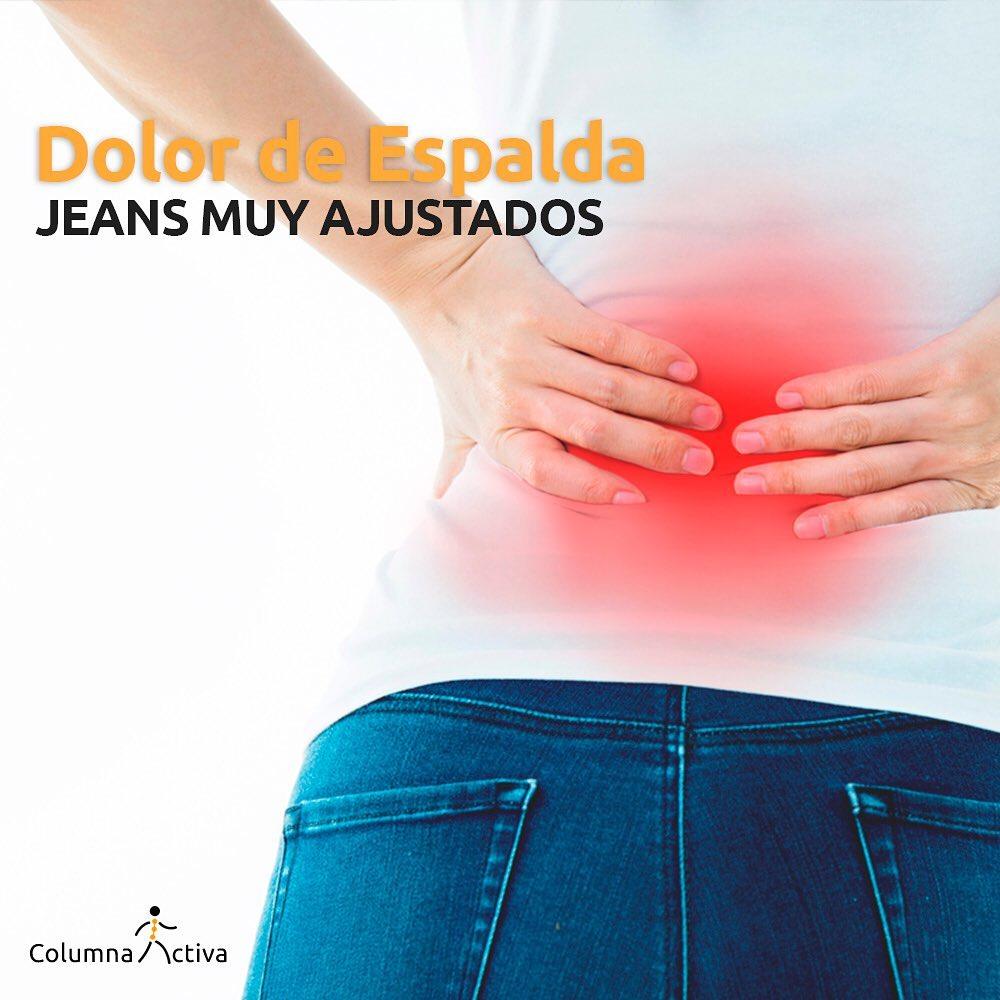 Dolor de espalda por jeans ajustados
