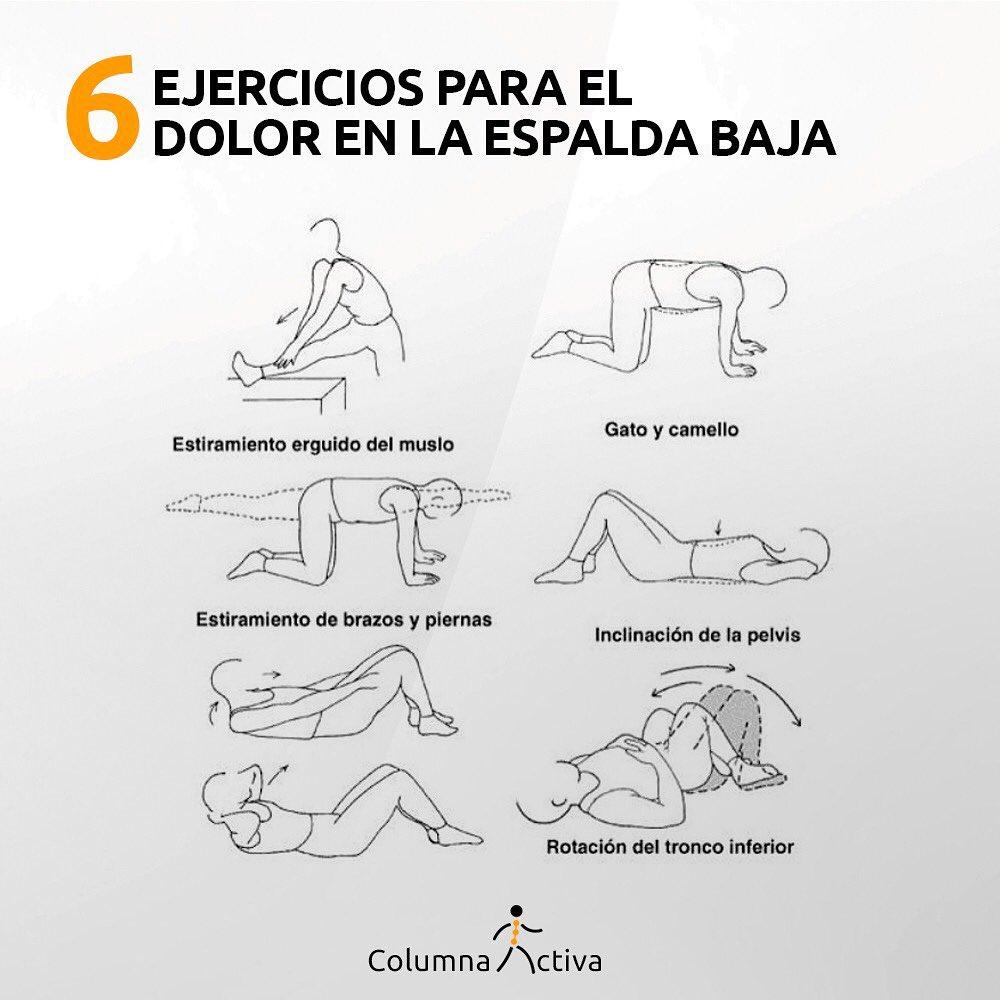 6 Ejercicios para el dolor en la espalda baja