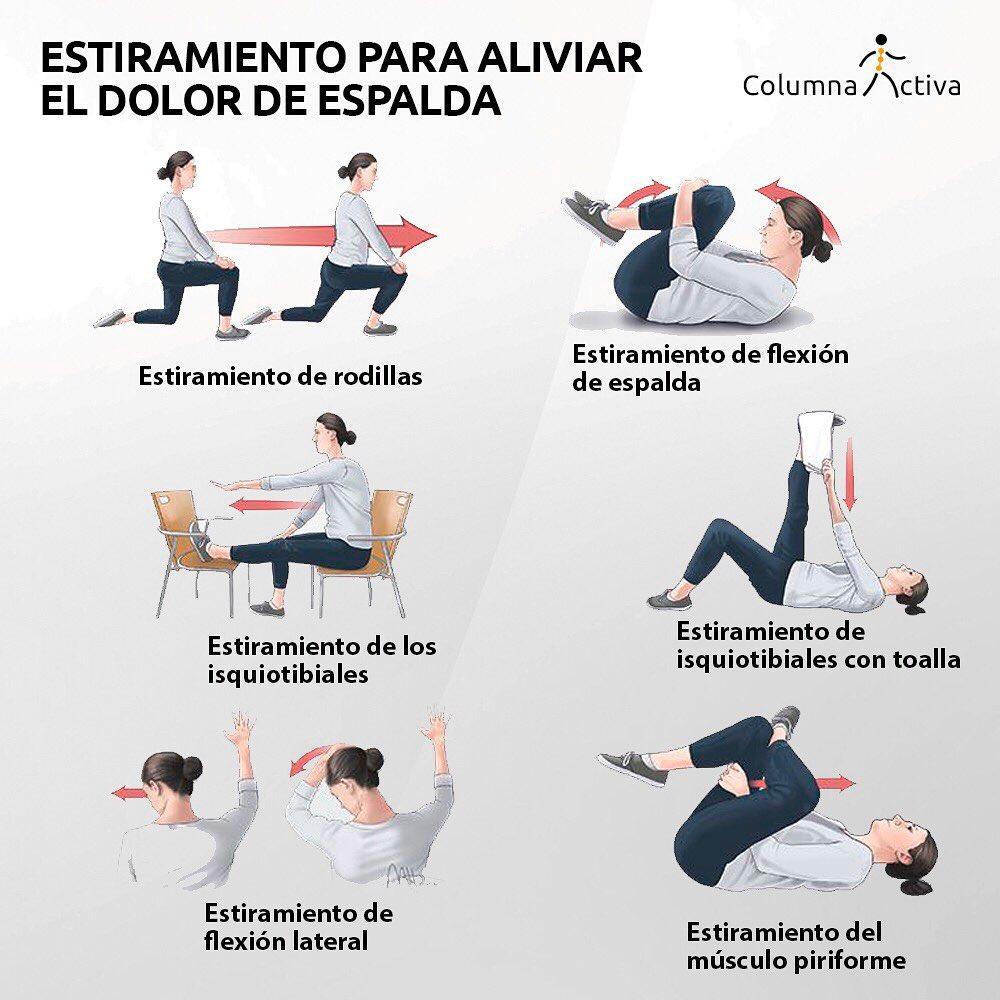Estiramiento para aliviar el dolor de espalda