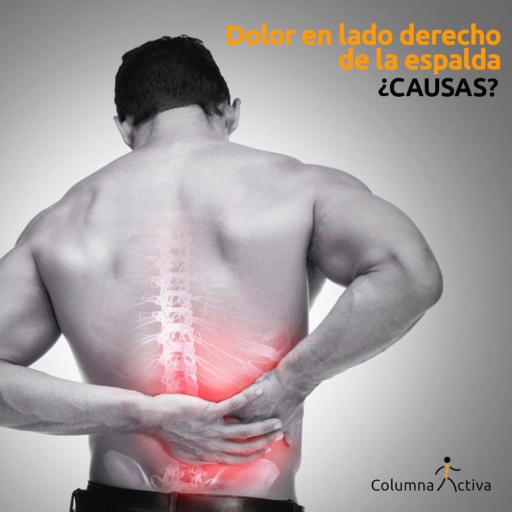 ¿Dolor en el lado derecho de la espalda, causas?