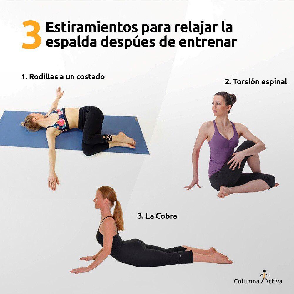 3 estiramientos para relajar la espalda