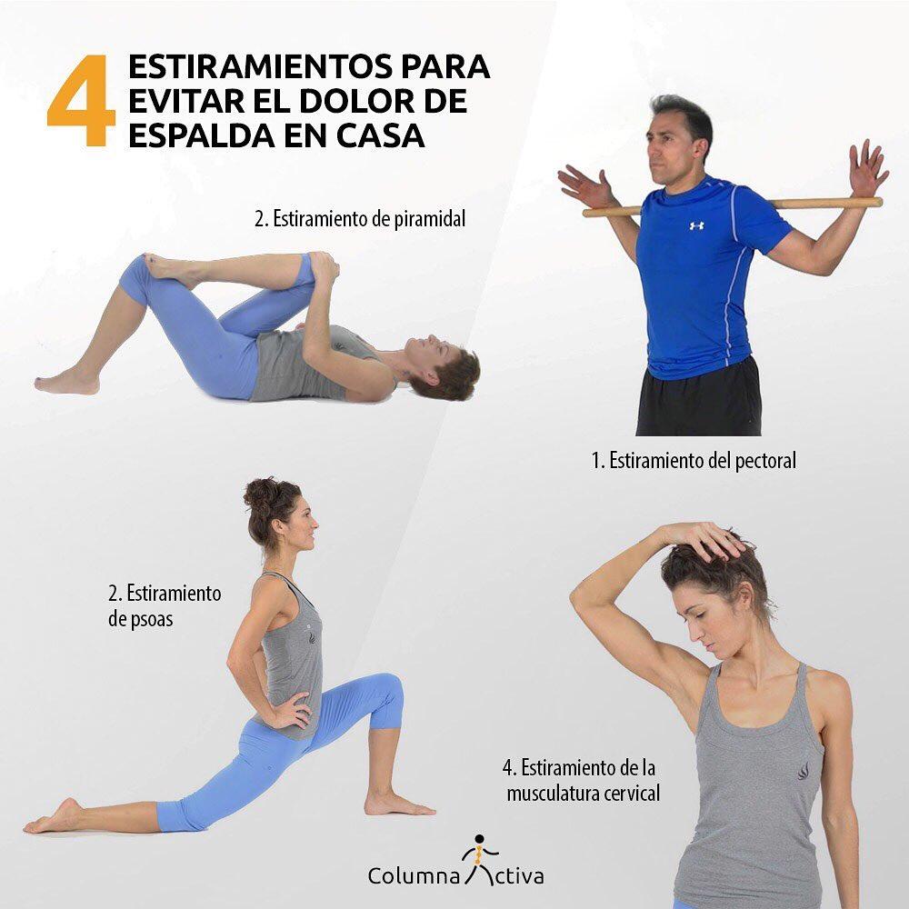 4 estiramientoos para evitar el dolor de espalda