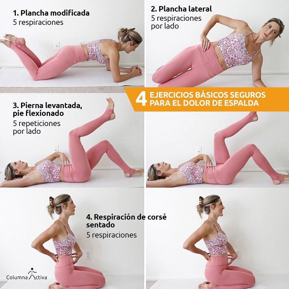 4 ejercicios básicos seguros para el dolor de espalda