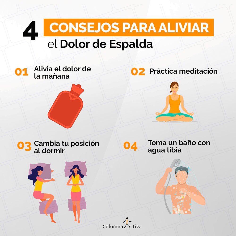 4 Consejos para aliviar el dolor espalda