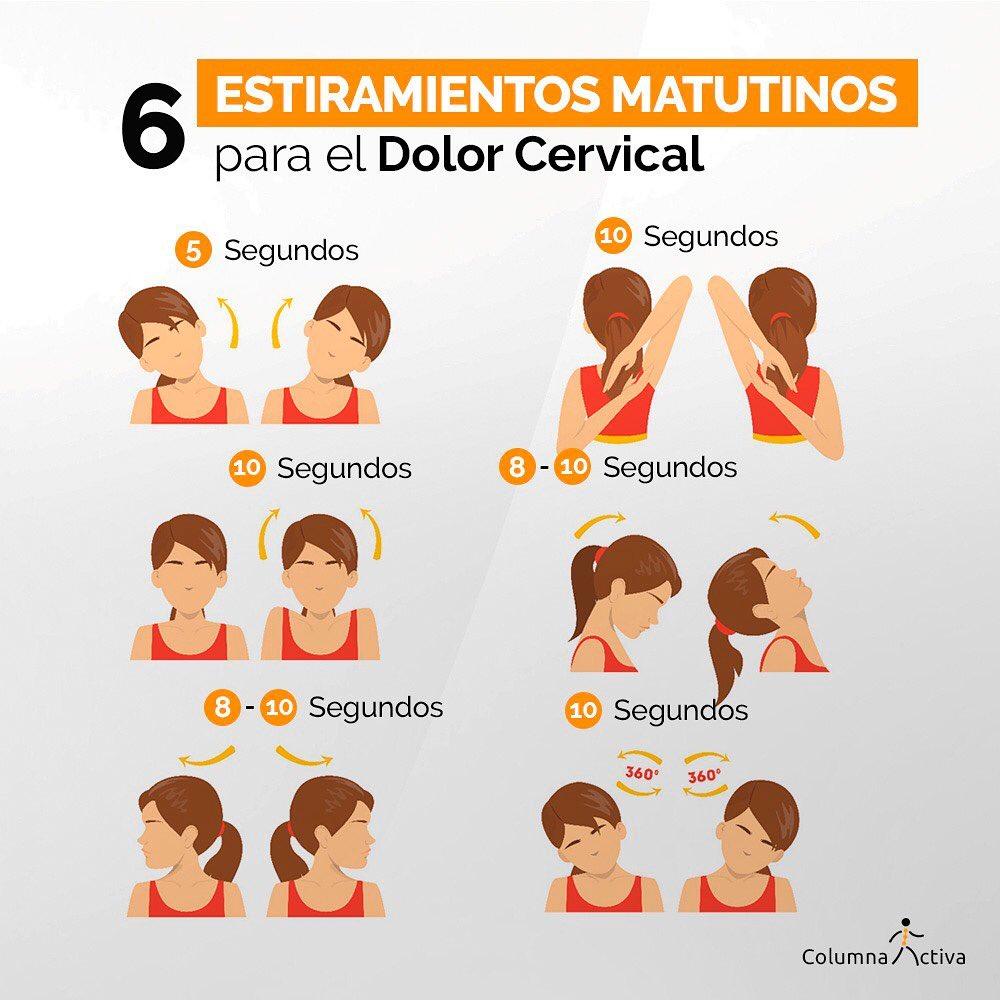 6 estiramientos matutinos para el dolor cervical