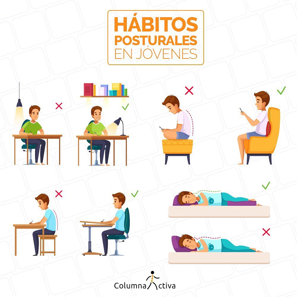 Hábitos posturales en jóvenes