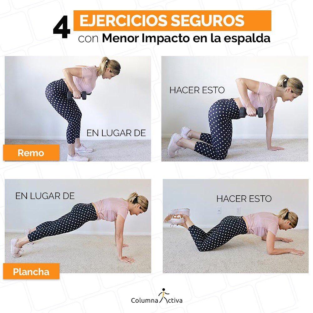 4 ejercicios seguros con menor impacto en la espalda