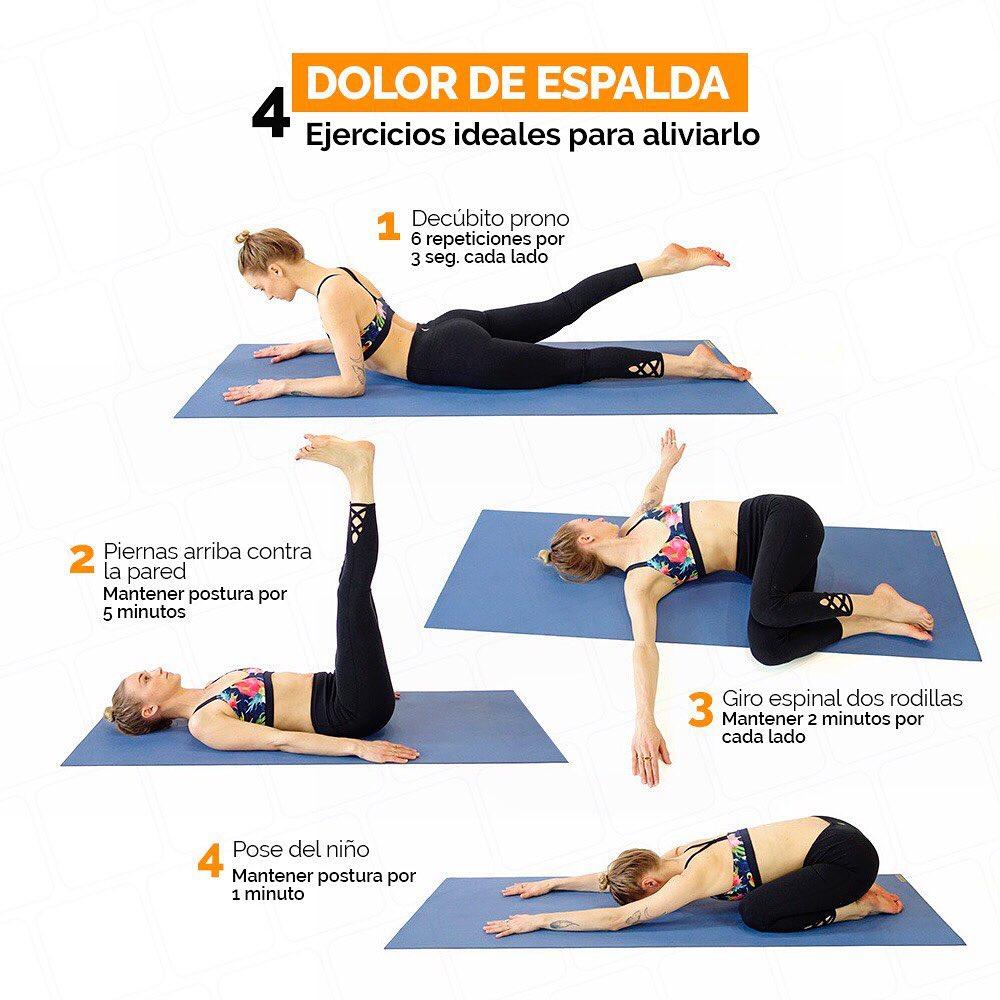 Dolor de espalda, 4 ejercicios para aliviarlo