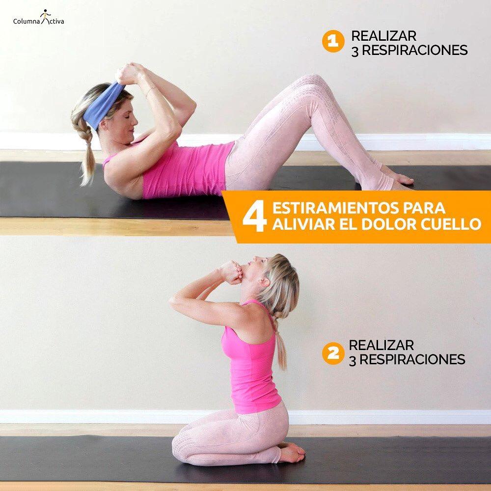 4 estiramientos para aliviar el dolor de cuello