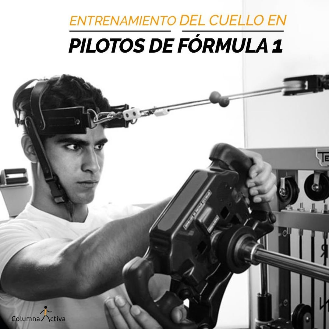 Entrenamientos del cuello en pilotos de formula 1