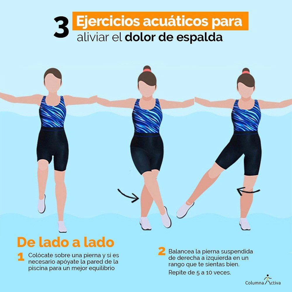 3 ejercicios acuáticos para aliviar el dolor de espalda