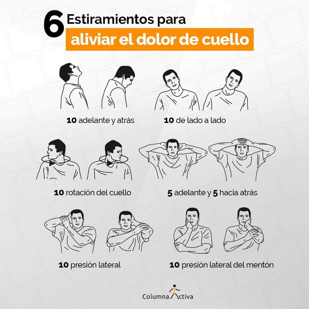 6 Estiramientos para aliviar el dolor de cuello